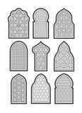 Arabisk eller islamisk fönsteruppsättning Arkivbilder