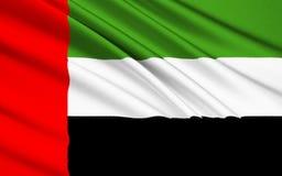 arabisk förenad emiratesflagga stock illustrationer