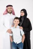 arabisk familj Arkivbild