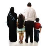 Arabisk familj, fyra medlemmar royaltyfri foto