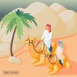 Arabisk familjbakgrund stock illustrationer
