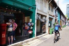 Arabisk fjärdedel det äldsta historiska shoppingområdet av Singapore Royaltyfria Foton