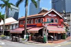 Arabisk fjärdedel det äldsta historiska shoppingområdet av Singapore Arkivfoton