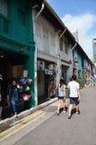 Arabisk fjärdedel det äldsta historiska shoppingområdet av Singapore Fotografering för Bildbyråer