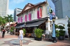 Arabisk fjärdedel det äldsta historiska shoppingområdet av Singapore Arkivbilder