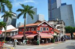 Arabisk fjärdedel det äldsta historiska shoppingområdet av Singapore Arkivbild