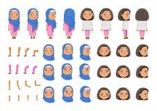 arabisk flicka royaltyfri illustrationer