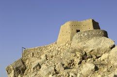 Arabisk Fort i Ras Al Khaimah arabiska Emirates Arkivbild