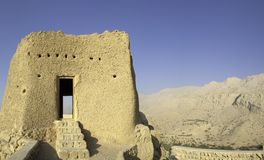 Arabisk Fort i Ras Al Khaimah arabiska Emirates Arkivfoton