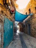Arabisk gata av den forntida staden Arkivfoto