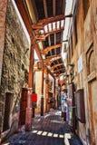 Arabisk gata i Dubai Arkivbilder