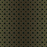 Arabisk guld- lyxig s?ml?s modell p? svart bakgrund royaltyfri illustrationer