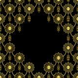 Arabisk guld- lyxig s?ml?s modell p? svart bakgrund vektor illustrationer