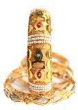arabisk guldsmyckenvertical arkivbild