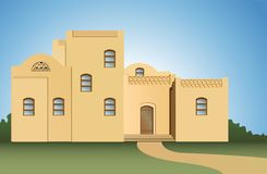 arabisk husvektor vektor illustrationer