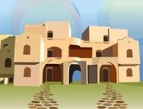 arabisk husvektor royaltyfri illustrationer
