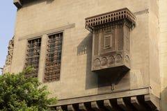 Arabisk islamisk byggnad i Kairo Egypten Arkivfoton