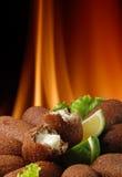 arabisk kebab arkivbild