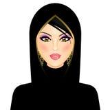 arabisk kvinna royaltyfri illustrationer