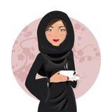 arabisk kvinna också vektor för coreldrawillustration Arkivbilder