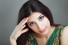 Arabisk kvinnamodell royaltyfria foton