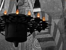 Arabisk lampa av moskén av Cordoba Spanien royaltyfria foton
