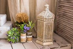 arabisk lampa Begrepp för marockansk och arabisk kultur och design royaltyfri bild