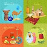 Arabisk livuppsättning royaltyfri illustrationer