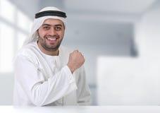 arabisk lyckad affärsmanledare arkivbild
