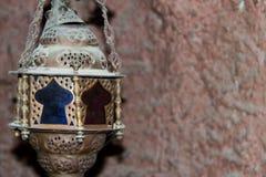 Arabisk lykta för gammal dekorativ tunnbindare royaltyfri foto