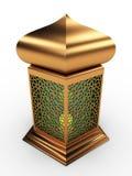 Arabisk lykta med blom- motiv Arkivbild