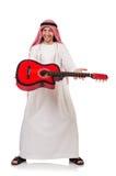 Arabisk man som spelar gitarren Arkivfoton