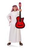 Arabisk man som spelar gitarren Arkivfoto