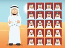 Arabisk mantecknad filmsinnesrörelse vänder mot vektorillustrationen Royaltyfria Bilder