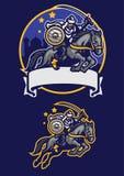 Arabisk maskot för krigareridninghäst royaltyfri illustrationer