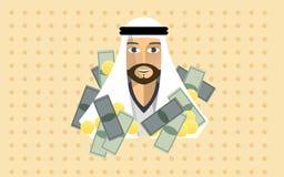 Arabisk miljonär Arkivbild