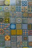 Arabisk modell, orientalisk islamisk prydnad Marockansk tegelplatta eller traditionell mosaik för marockansk zellij arkivfoton