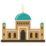 Arabisk muslimmoské och minaret stock illustrationer