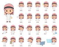 arabisk pojke Arkivbild