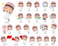 Arabisk pojke 2 royaltyfri illustrationer