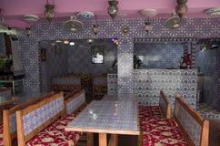 Arabisk restaurang i Singapore Arkivbilder