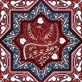 Arabisk sömlös modell med fågeln Phoenix royaltyfri illustrationer