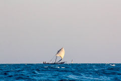 Arabisk seglingDhow Arkivfoton