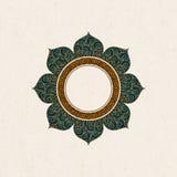 Arabisk tappningram för vektor i en form av en ram med färgrik garnering stock illustrationer