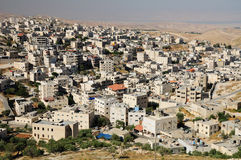 Arabisk town. Israel. Arkivbilder