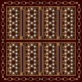 Arabisk trädekorativ ram royaltyfri illustrationer