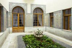 Arabisk uteplats av den Livadia slotten, Krim Arkivbilder