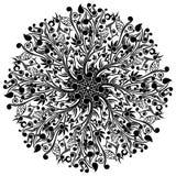 Arabisk virvel med blom- Batik Arkivbilder