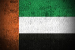 arabiska emirates flag förenad grunge stock illustrationer