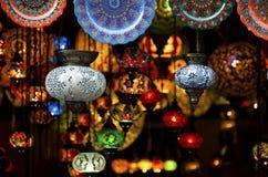 arabiska färgrika lyktor Arkivfoto